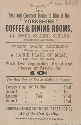 Advert for the Yorkshire Coffee & Dining Rooms 6804